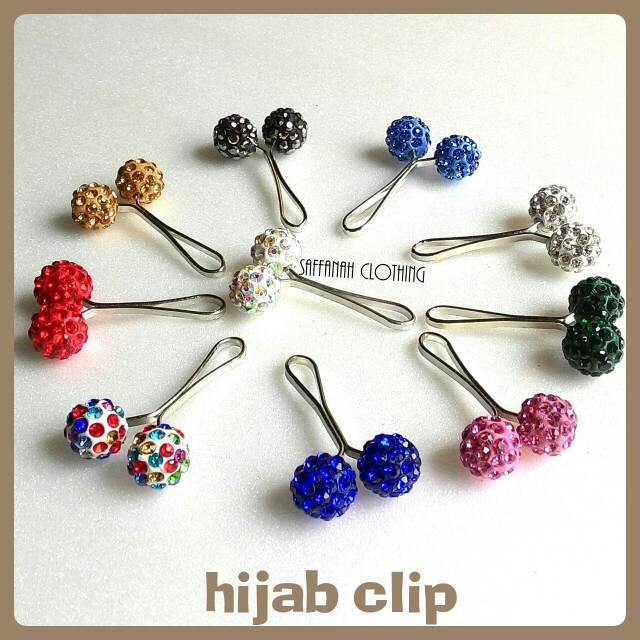 Hijab Clip || Clip Hijab Blink Series Gagang Silver Pipih