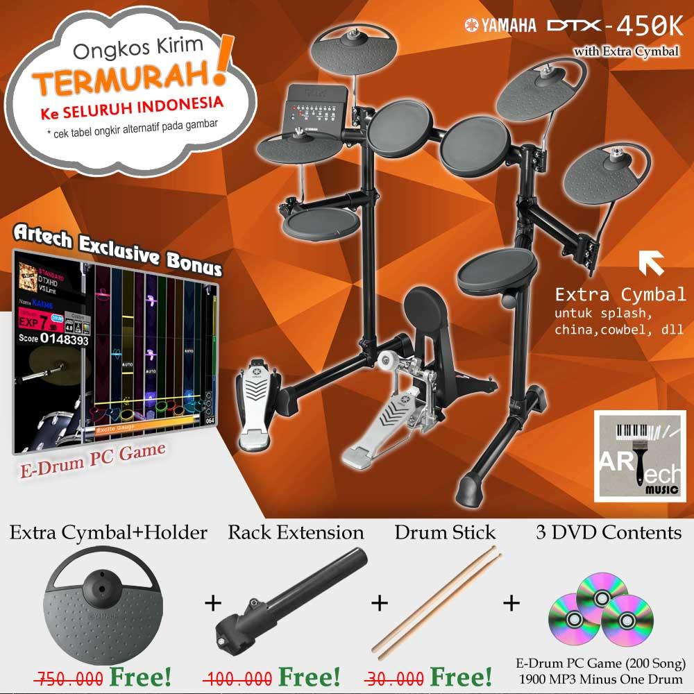 Jual Drum Elektrik Yamaha DTX450K XtraCymbal DTX450