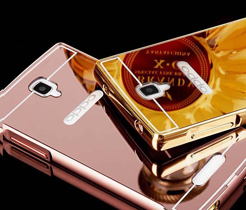 Jual Metal Bumper Slide Mirror Hard Back Case Cover Casing Oppo Neo 3 - Grace Acc
