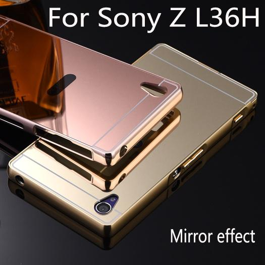 ... Case for SONY XPERIA M4 Aqua Alumunium Bumper With Mirror Backdoor Source Jual