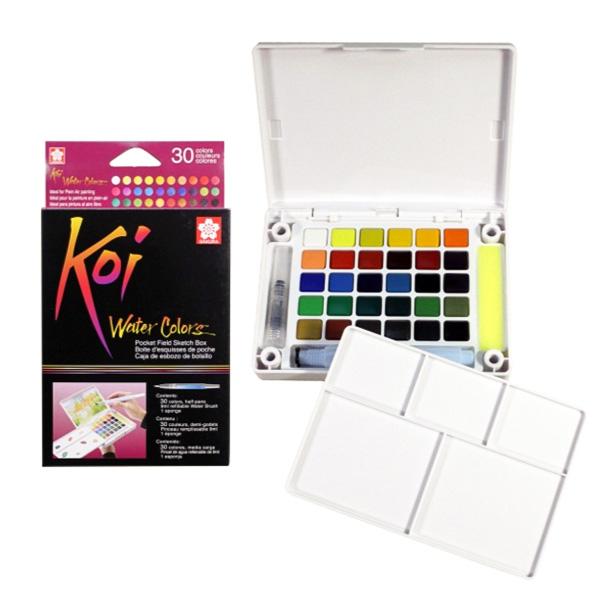 Cat Air Sakura Koi Set 30 / Sakura Koi Watercolor Pocket 30