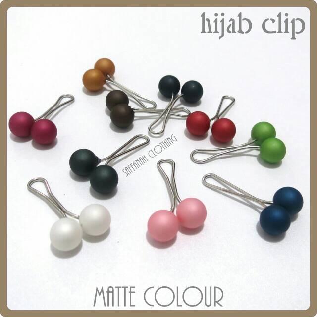 Hijab Clip || Klip Hijab Series Matte Colour