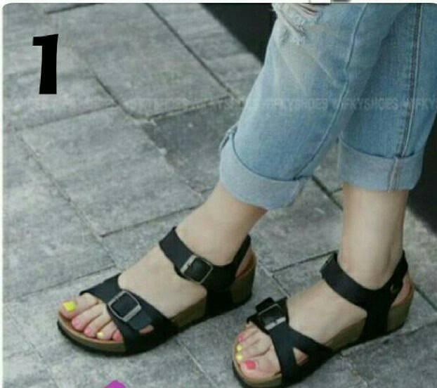 Jual Sendal Sepatu Tali Model Birkenstock Carvil New Era