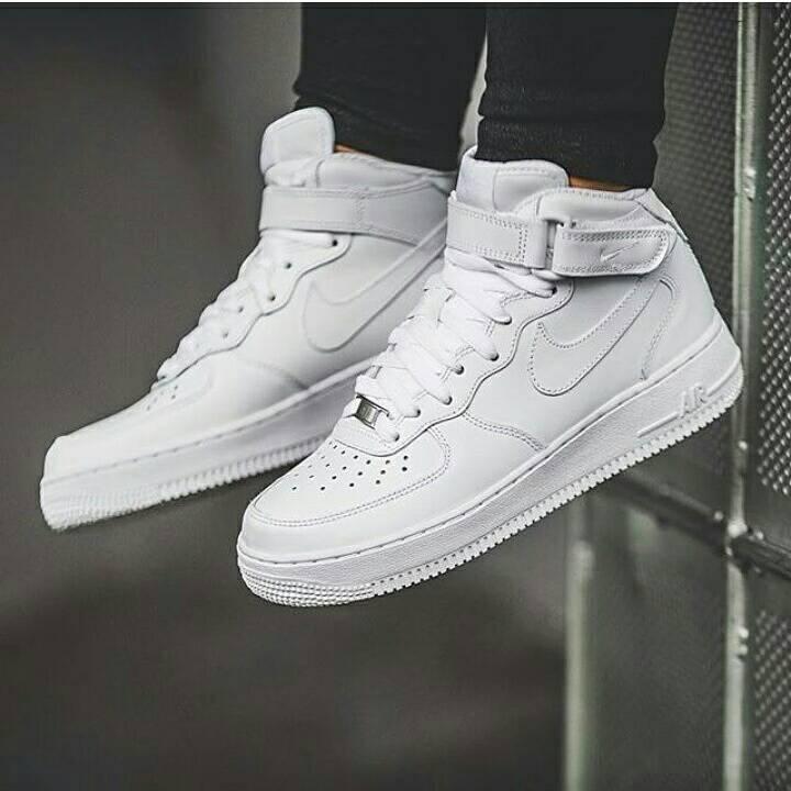 Jual 100 Original Nike Air Force 1 07 Mid All White