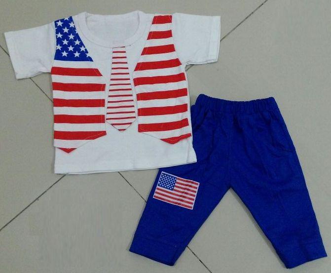 STKDK154 - Setelan Anak Kecil Tie Flag Murah