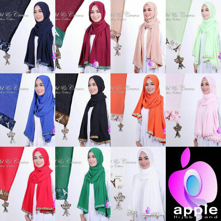 Patan Eiffel and Crown by Apple Hijab Brand