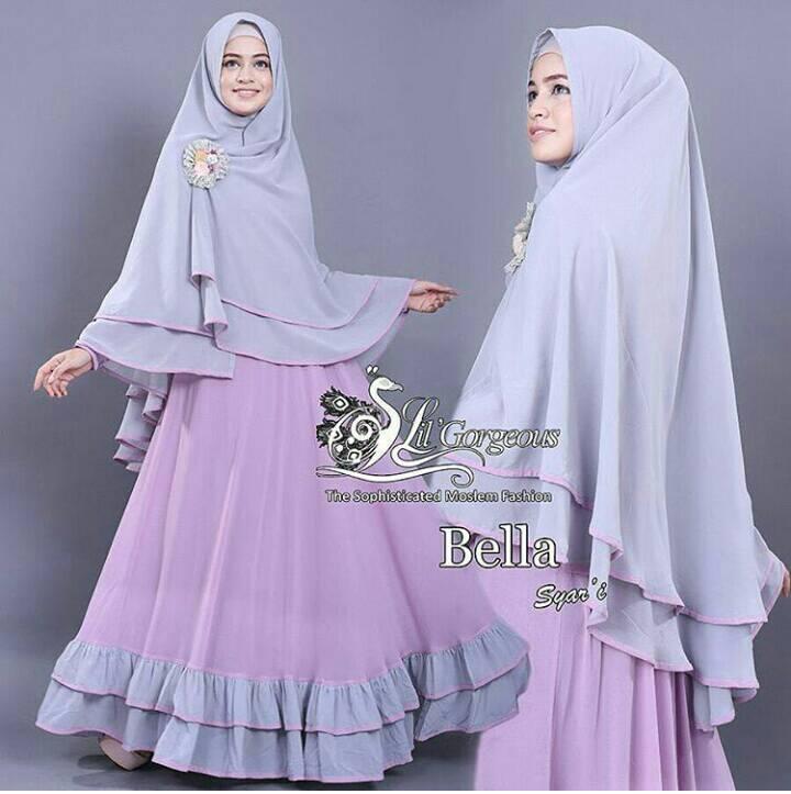 hijab bella syari baju busana muslim terbaru