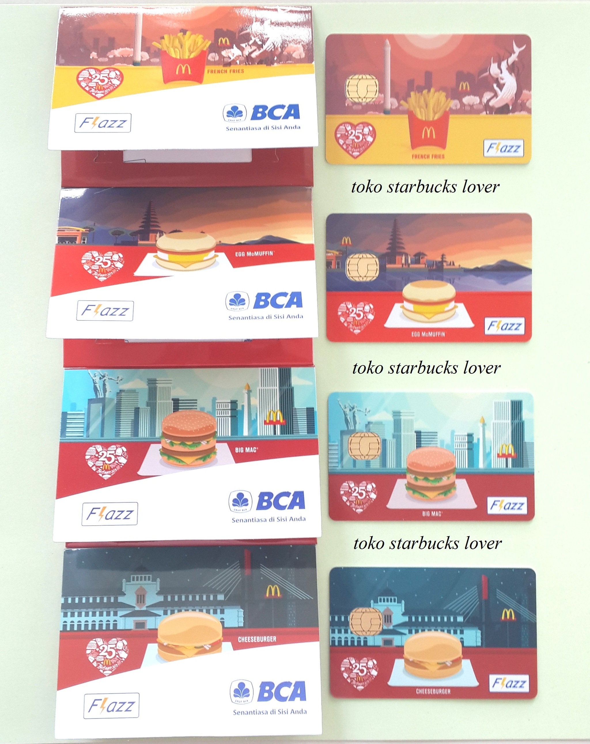 Jual Kartu Flazz Bca Set 4 Edisi Mcdonalds Sby Bali Jkt Dan Bdg Toko Starbucks Lover Tokopedia