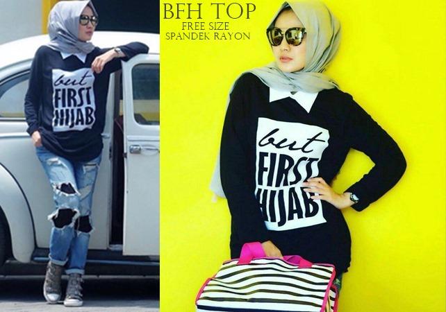 First Hijab Black | Atasan | Spandek