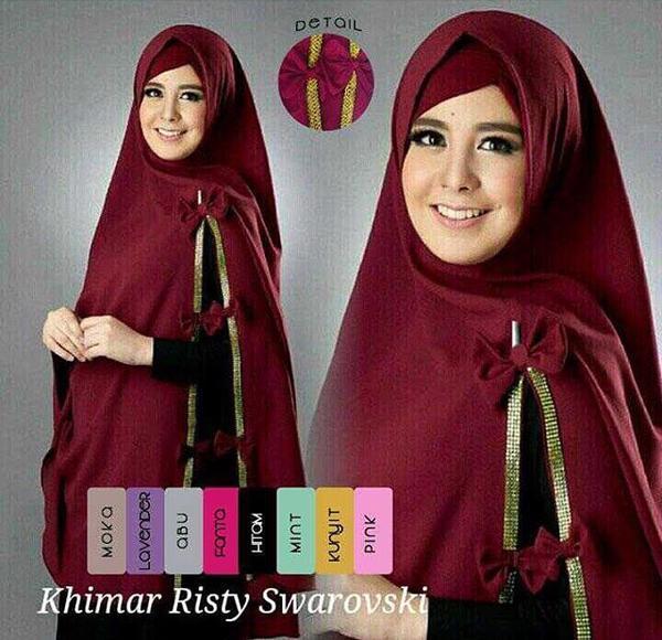 Hijab Jilbab Kerudung Khimar Pita Risty