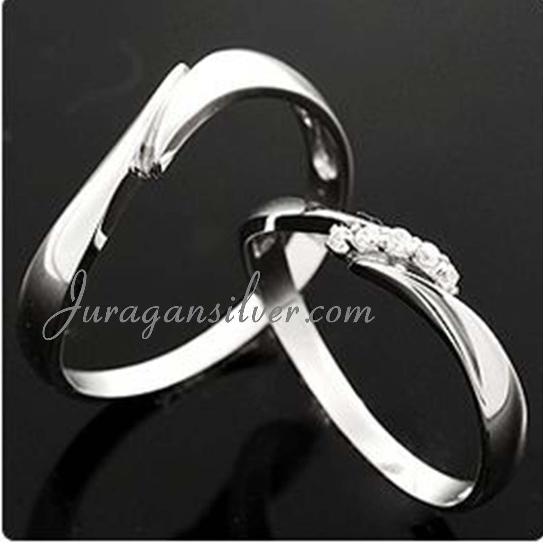 Jual Cincin Palladium Nikah Perak Pasangan Tunangan Kawin 577 Couple Paladium Queenjewelery3 Tokopedia
