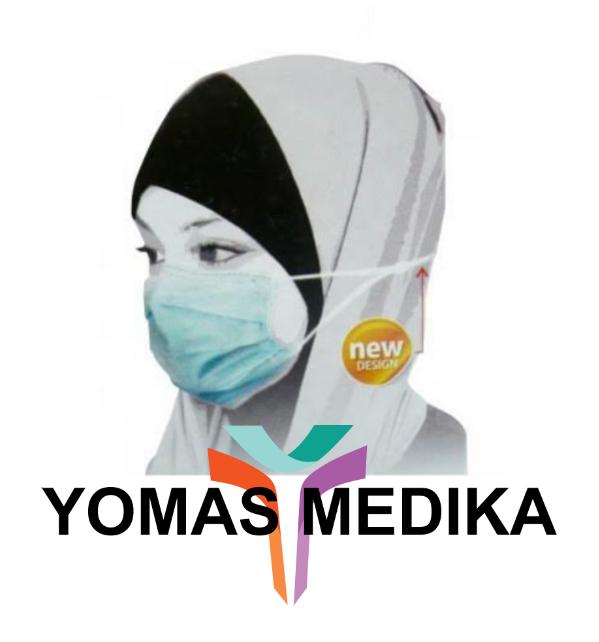 Masker Kesehatan Motor Hijab Jilbab Headloop Sensi