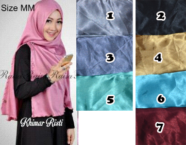 jilbab / hijab khimar risty velvet