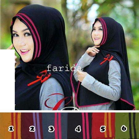 Hijab/Jilbab Khimar Syar'i Farida jersey