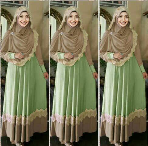 hijab mint gamis baju muslimah modis