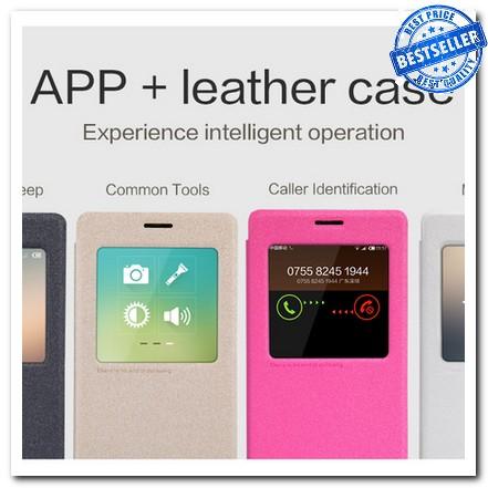 Jual Nilkin Sparkle Leather Case Xiaomi Redmi Note Hong