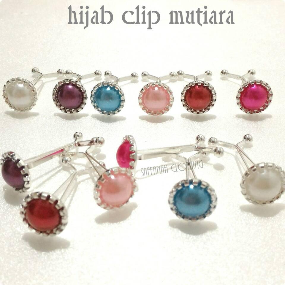 Hijab Clip || Klip Hijab Mutiara