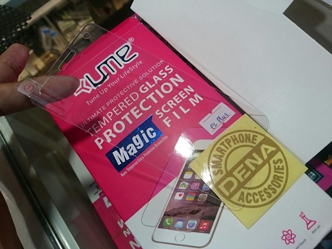 Jual Tempered Glass Andromax E2 Plus Dena Acc Surabaya Tokopedia R2 Titan Premium 25d Clear