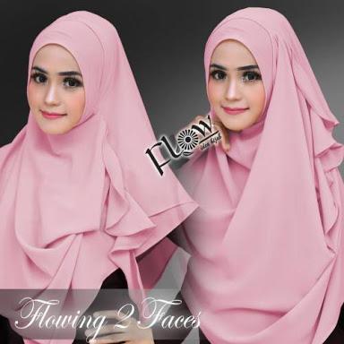 hijab flowing 2 face/ kerudung instan/ jilbab