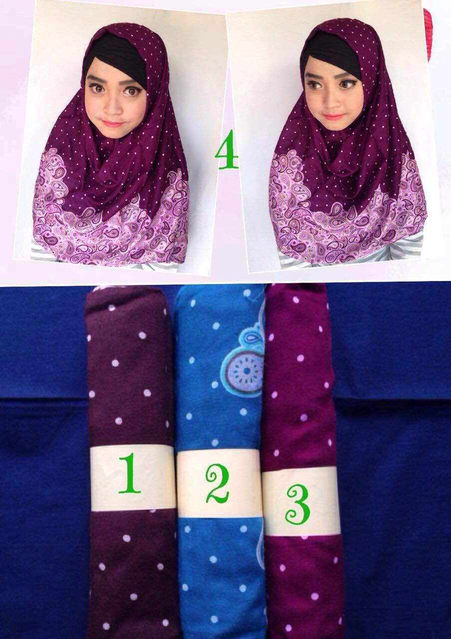 kerudung pasmina monocombi / monochrom / katun rayon / grosir hijab