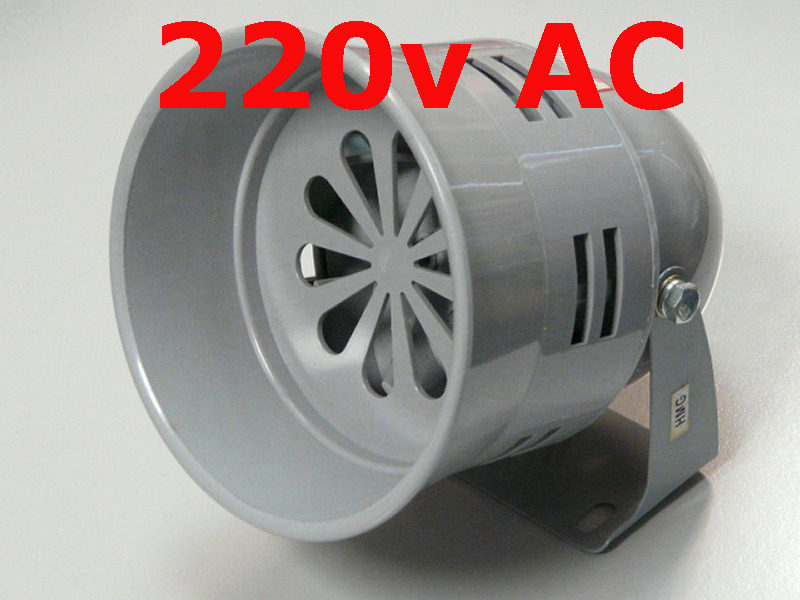 Motor Siren 220v AC Model MS-290 120db Alarm Sound