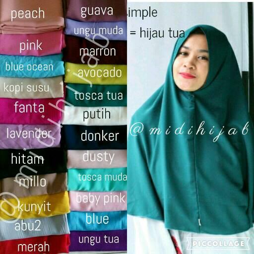 hijab khimar simple / grosir jilbab murah