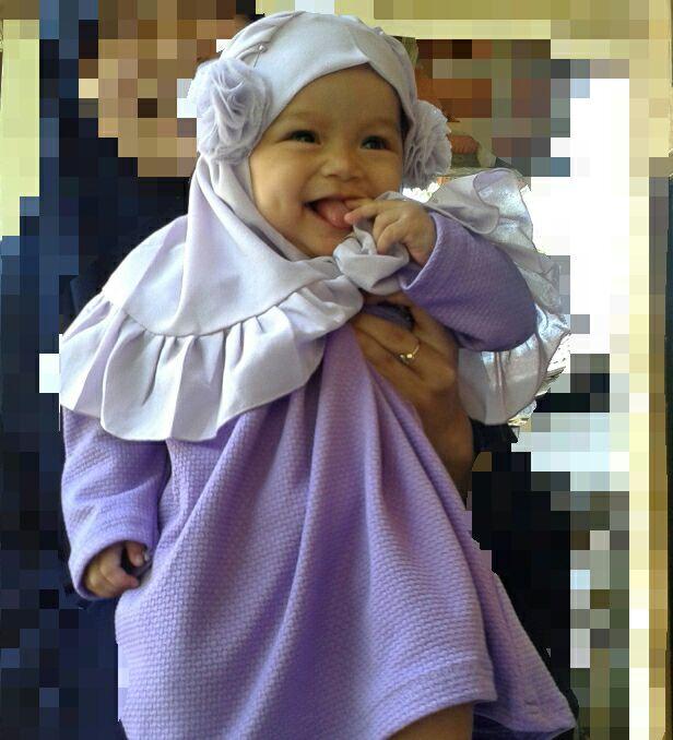 Gamis Bayi Set | Hijab Pompom Anak