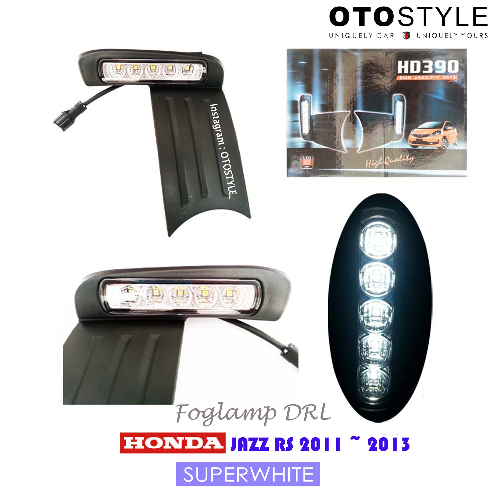 Foglamp DRL Honda Jazz 2012 ON Fit/Rs/S - Superwhite Light