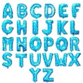 balon foil huruf a-z angka 0-9
