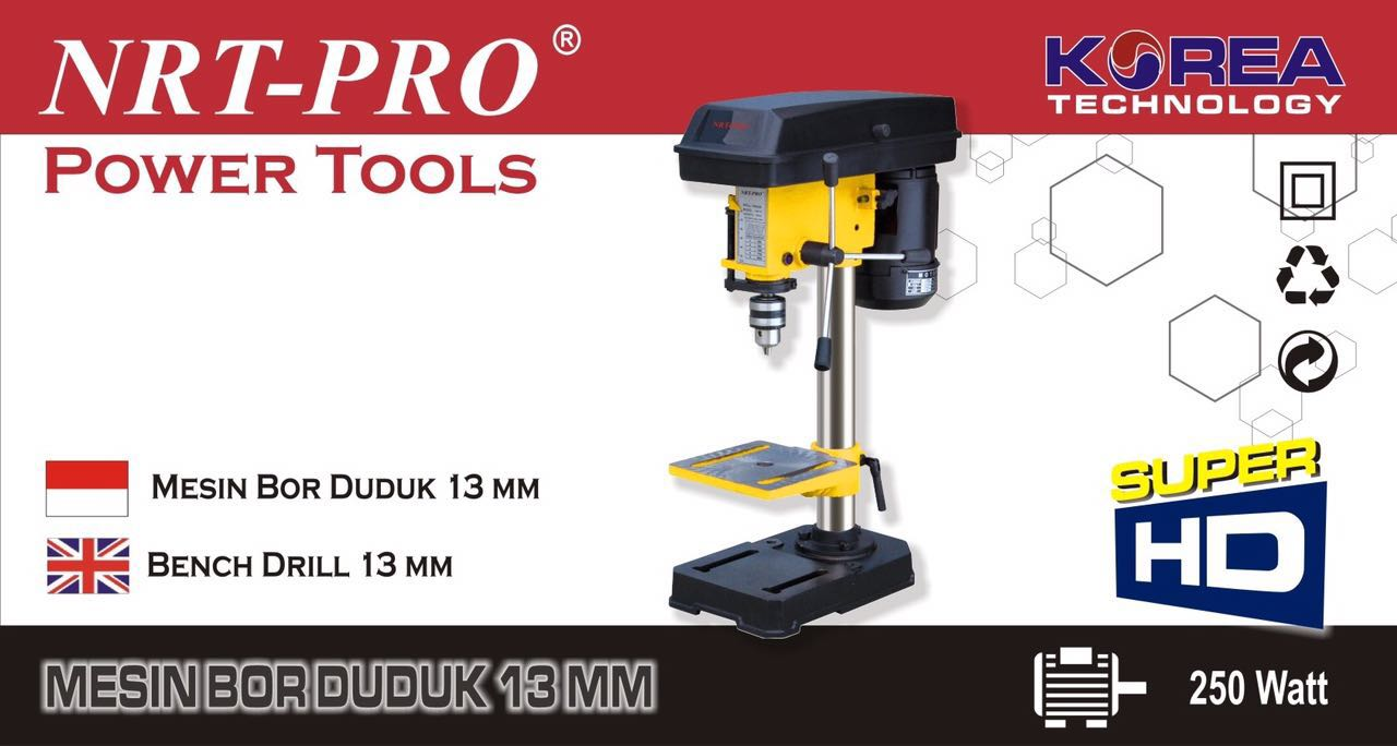 MESIN BOR DUDUK 13MM NRT-PRO / BENCH DRILL 13MM