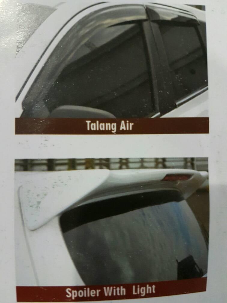 Tank cover JSL Datsun GO model Luxury putih dan hitam krom .
