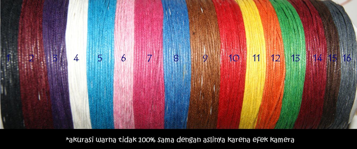 Tali Semi Kulit 1,0 mm (per 10 meter) Untuk Kerajinan Gelang ZY4J
