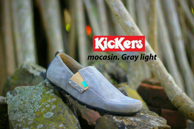 sepatu kickers.mocasin slop gray light