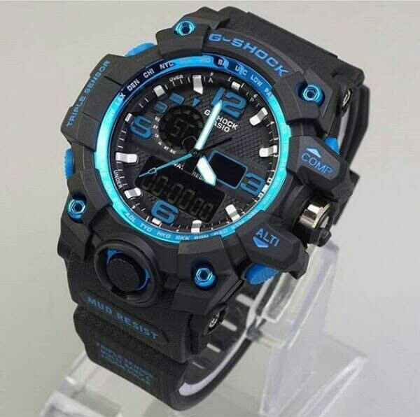 G-SHOCK GWG 1000 BLACK ANGKA BLUE