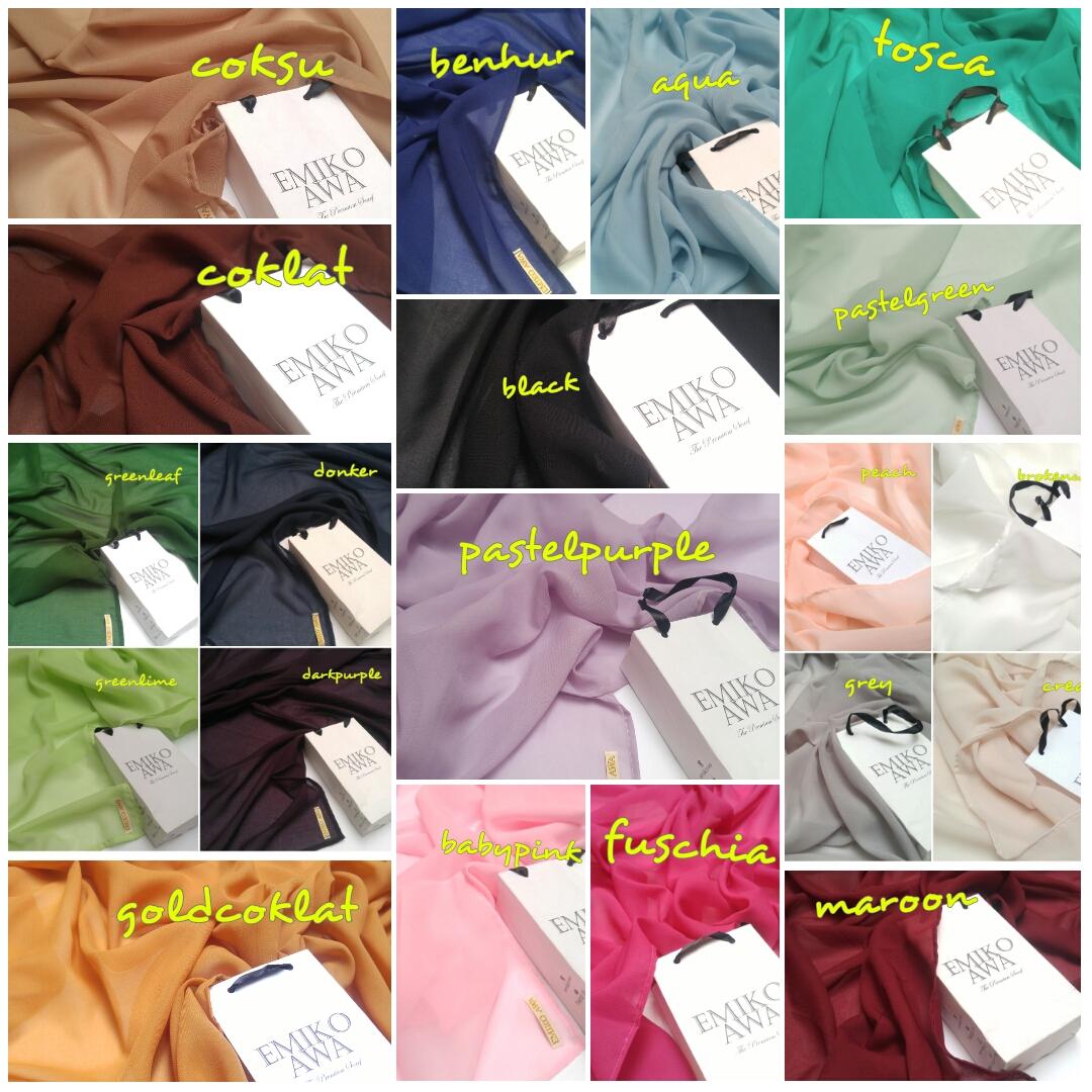 Pashmina POLOS / Scarf / Hijab / Syal / Shawl / Selendang