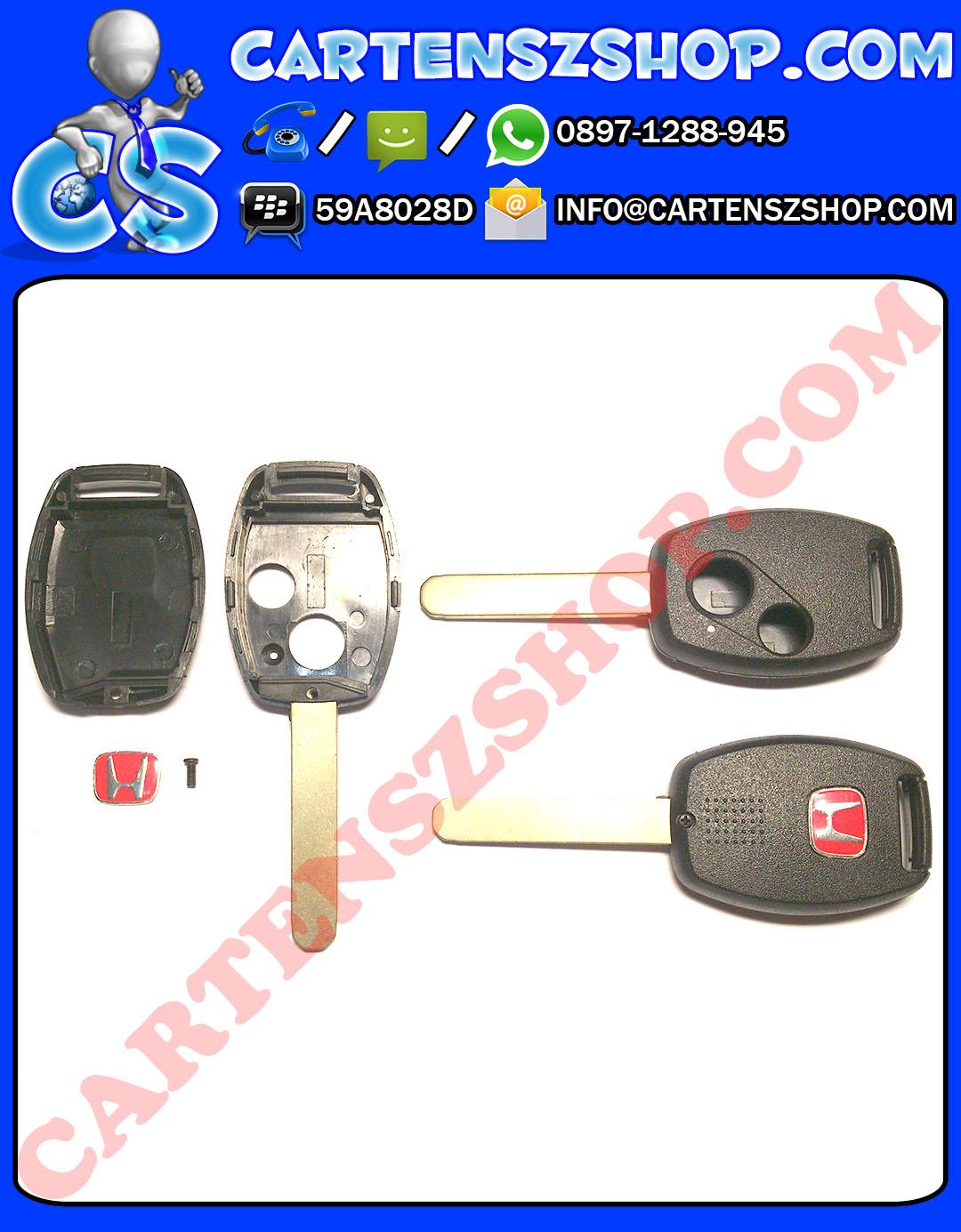 Casing + Emblem Merah Kunci 2 Tombol Honda Mobilio, Brio, Jazz, Dll