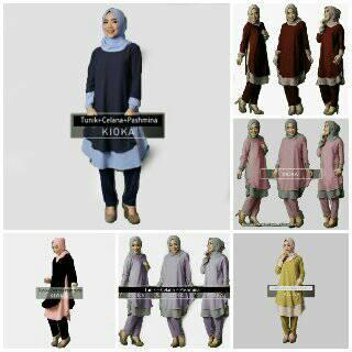 Setelan hijab kioka 3in1 (BEST SELLER)