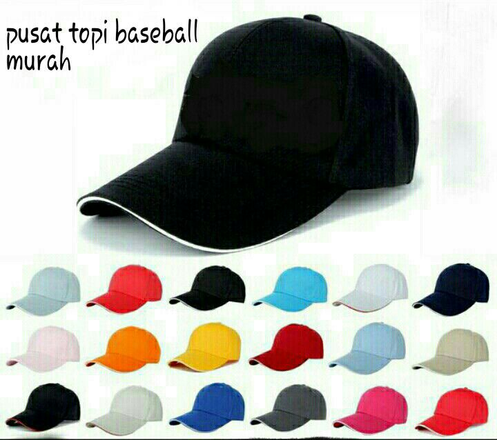 Jual topi baseball cap polos - sahabat promo souvenir  e77c2a2536