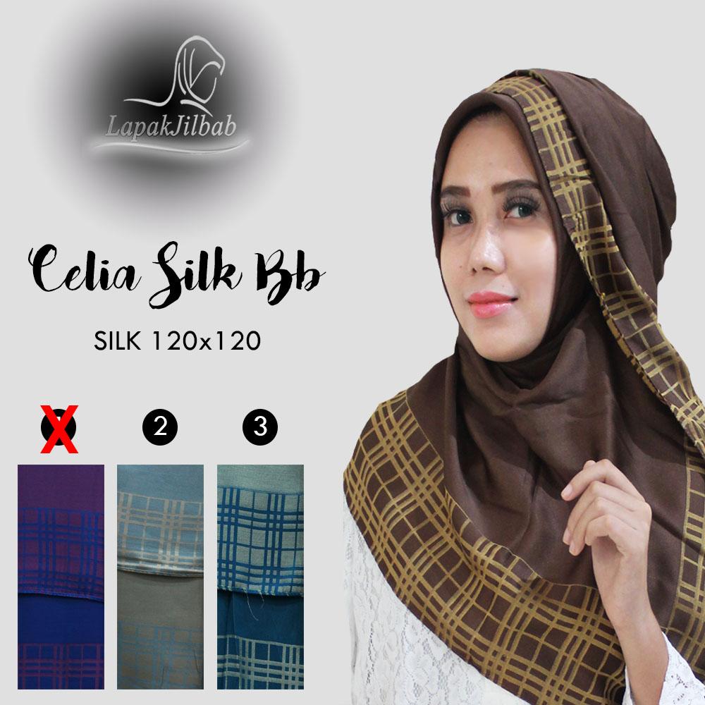 Jilbab Segi Empat Silk Scarf Bolbal | Hijab Terbaru Harga Ecer