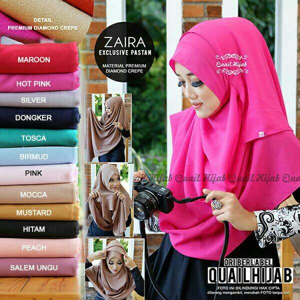 Jilbab Zaira pasmina instant ori Quail hijab