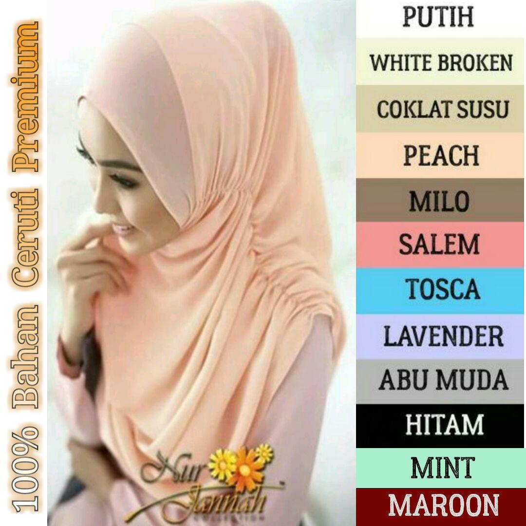 Jilbab Kerudung Hijab Atasan Murah Wanita Instan Ceruti Premium