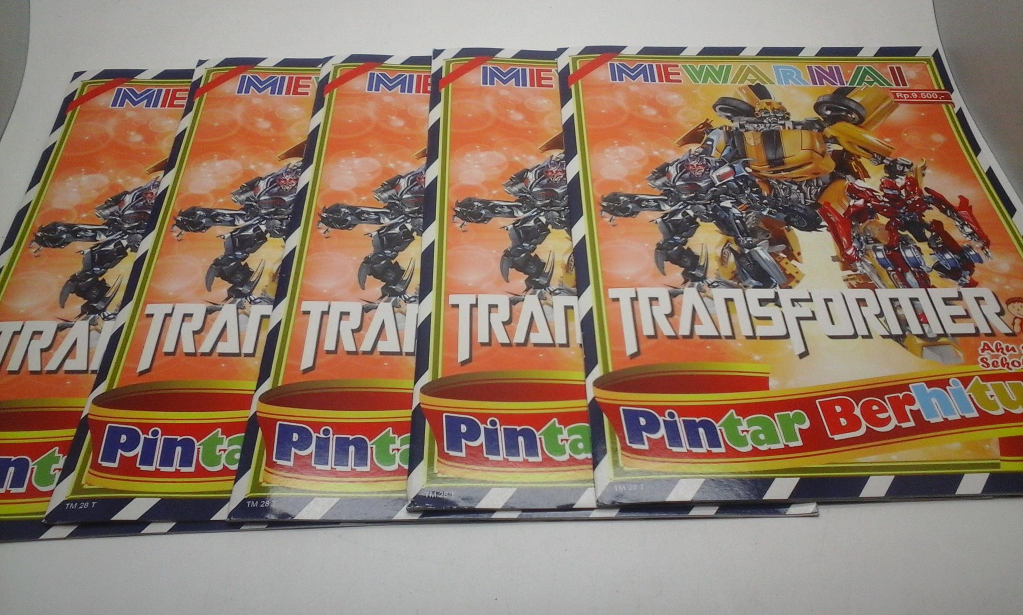 Jual Buku Mewarnai Gambar Transformer Kota Bandung Hidayah