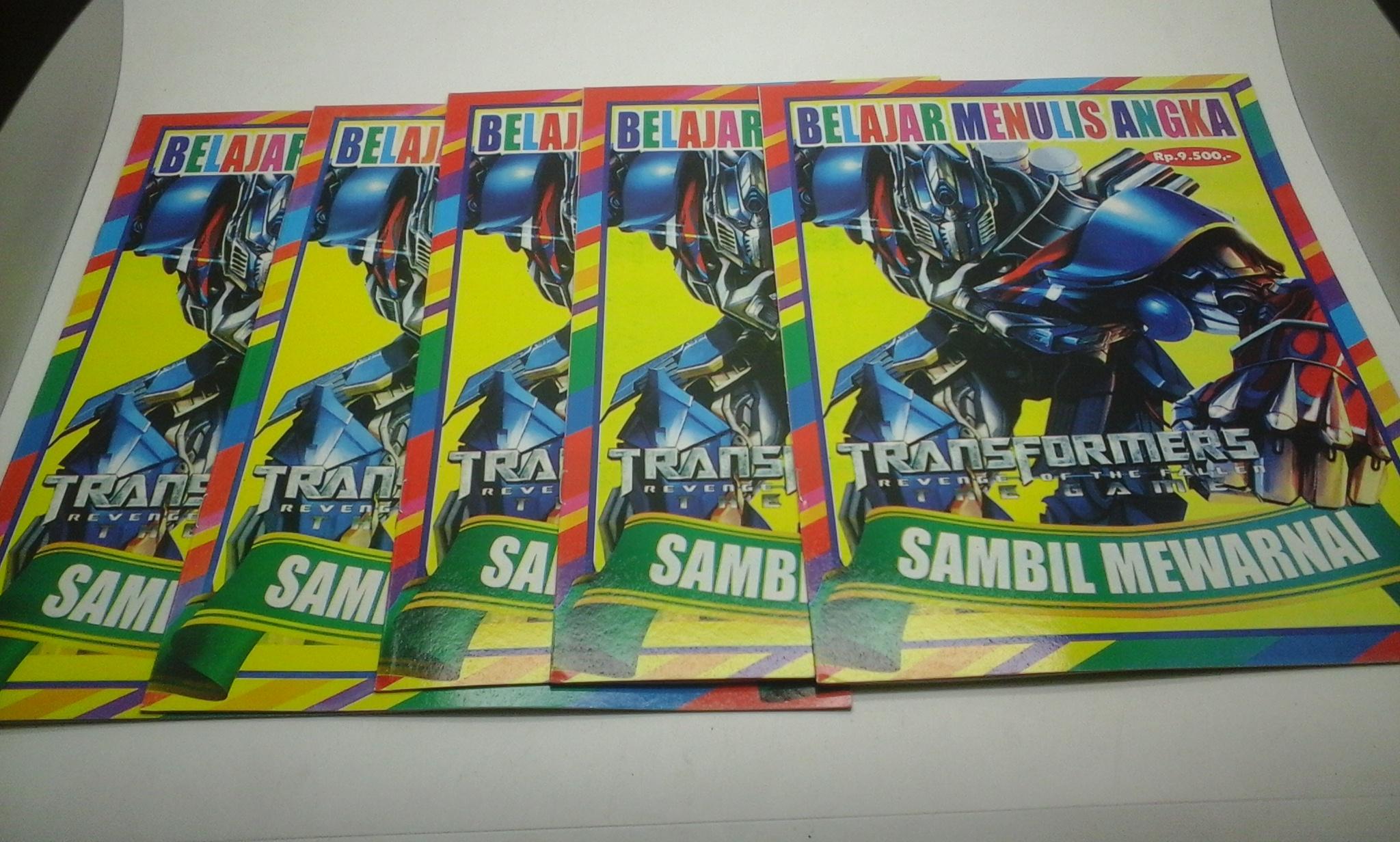 Jual Buku Mewarnai Gambar Transformer Hidayah Print Tokopedia