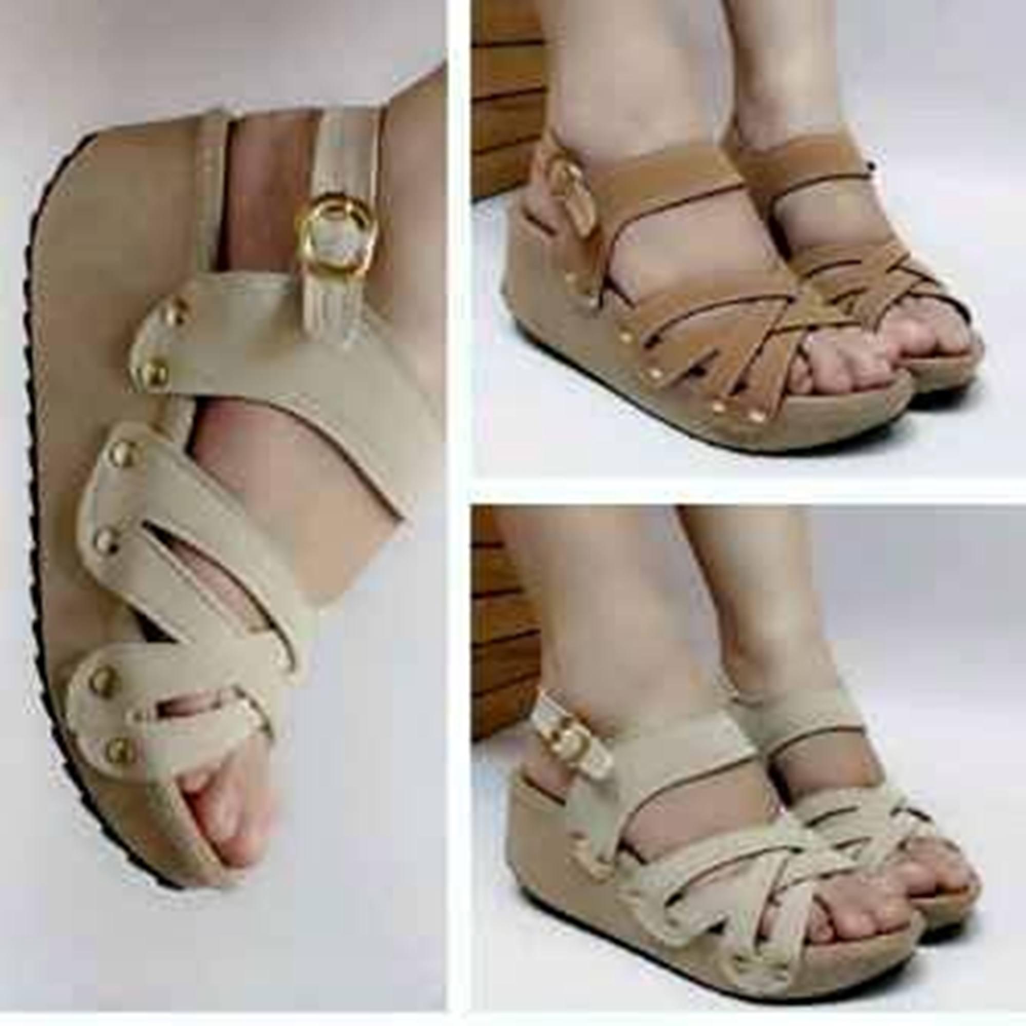 Jual Sandal Wedges Kickers Am10 5cm Filles Shoes Tokopedia Sepatu Cewe Wanita Women Kode 010