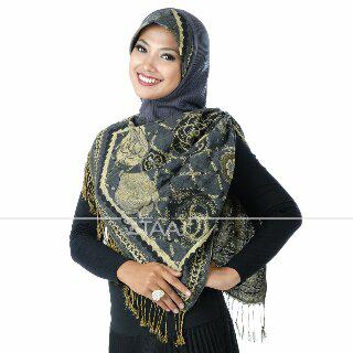 Pashmina jilbab instan kerudung hijab bergo syar'i Taaj FNPT new