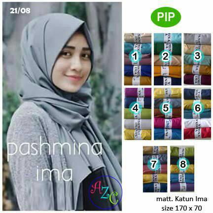 Pasmina Polos Katun Ima | Hijab Harga Grosir | Jilbab Terbaru | PIP