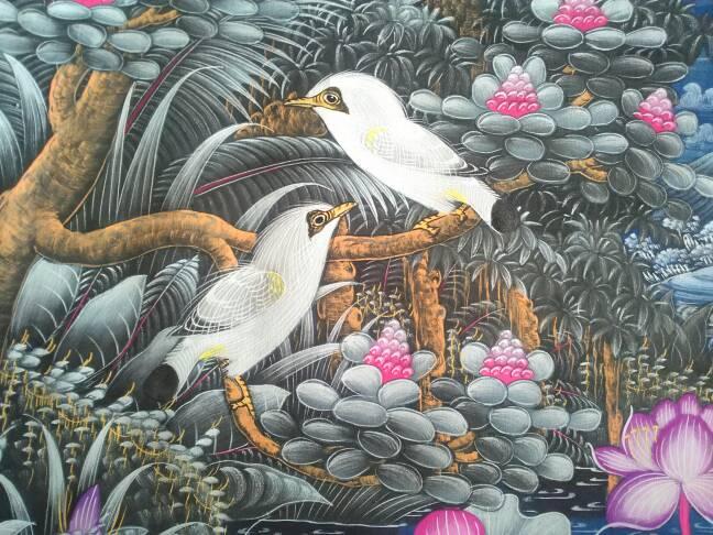 Jual Lukisan Klasik Burung Jalak Bali & Bangau - gushen ...