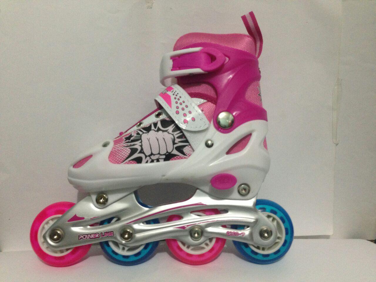 Cool Slide Sepatu Roda Inline Ban Full Karet Pink Sepaturoda Anak Bajaj Power  Grosir Dan Eceran Merah Source King