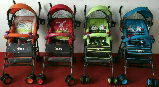 Baby Stroller Pliko TECHNO (Khusus kirim via JNE)