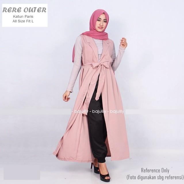 Model Busana Muslim Rompi Panjang Baju Gamis Dan Baju Muslim Model